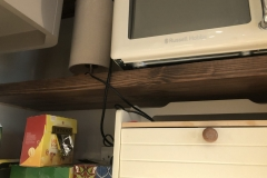 Solid pine floating shelf